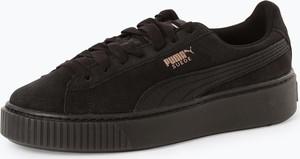Czarne trampki Puma w sportowym stylu