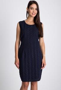 Granatowa sukienka QUIOSQUE w stylu casual