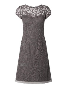 Sukienka Niente trapezowa z okrągłym dekoltem z krótkim rękawem