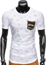 T-shirt ombre clothing w militarnym stylu z krótkim rękawem