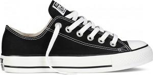 Czarne trampki dziecięce Converse sznurowane z bawełny