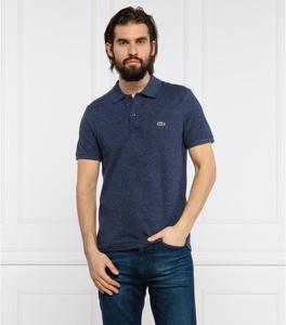 Niebieska koszulka polo Lacoste z krótkim rękawem