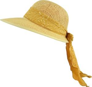 Jk collection kapelusz letni. - cappucino || żółty