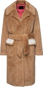 Brązowy płaszcz Pinko
