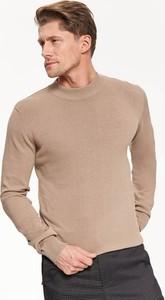 Brązowy sweter Top Secret w stylu casual