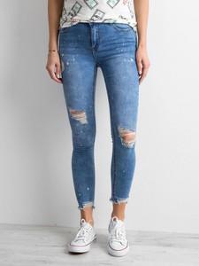 Niebieskie jeansy Sheandher.pl z jeansu w stylu casual