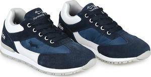 Granatowe buty sportowe dziecięce Harmont&Blaine dla chłopców sznurowane