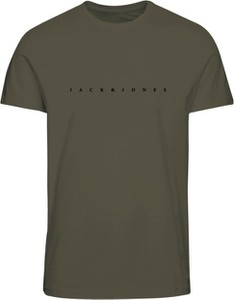Zielony t-shirt WARESHOP w stylu casual z krótkim rękawem
