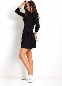 Czarna sukienka Ivon mini w stylu casual oversize