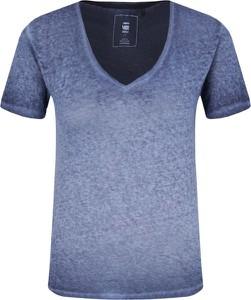 T-shirt G-Star Raw z dekoltem w kształcie litery v z krótkim rękawem