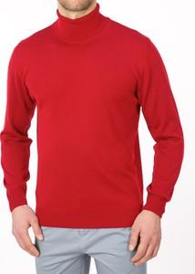 Czerwony sweter Lanieri z wełny w stylu casual
