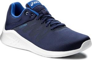 Granatowe buty sportowe asics w sportowym stylu