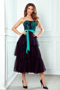 Sukienka Manumo bez rękawów z tiulu