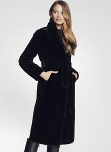 Czarny płaszcz Ochnik w stylu casual