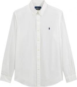 Koszula POLO RALPH LAUREN z kołnierzykiem button down z bawełny z długim rękawem