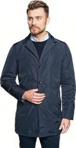 Niebieski płaszcz męski Recman