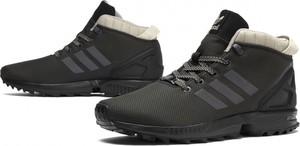 Czarne buty sportowe Adidas sznurowane w stylu casual