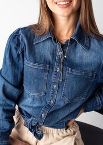 Niebieska koszula Fason z bawełny