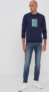 Granatowa bluza United Colors Of Benetton z bawełny