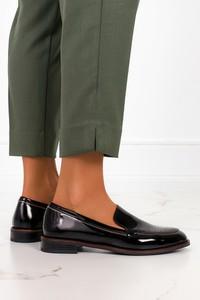 Czarne półbuty Sergio Leone w stylu casual ze skóry ekologicznej