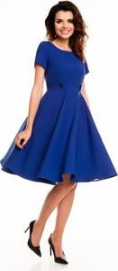 Granatowa sukienka Awama