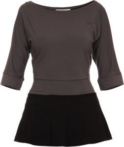 Bluzka Yuliya Babich z długim rękawem w stylu casual z okrągłym dekoltem