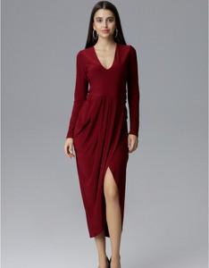 Sukienka Figl midi z długim rękawem