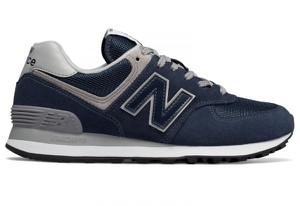 Granatowe buty New Balance z płaską podeszwą 574 sznurowane