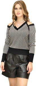 Sweter Pinko w stylu casual z żakardu