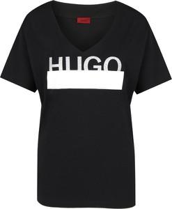T-shirt Hugo Boss z krótkim rękawem z dekoltem w kształcie litery v