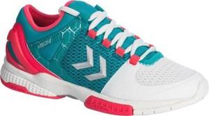 Niebieskie buty sportowe Hummel z płaską podeszwą