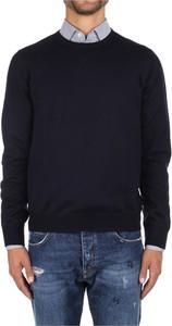 Niebieski sweter La Fileria z wełny
