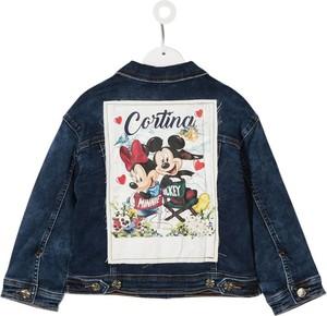 Granatowa bluza dziecięca Monnalisa z jeansu