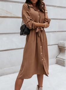 Sukienka Sandbella koszulowa z długim rękawem