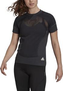 T-shirt Adidas z okrągłym dekoltem z krótkim rękawem w sportowym stylu