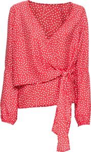 Bluzka bonprix BODYFLIRT z długim rękawem z dekoltem w kształcie litery v w stylu casual