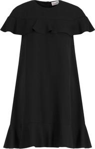 Czarna sukienka Red Valentino mini z krótkim rękawem w stylu casual