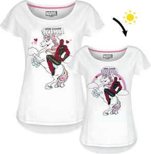 T-shirt Emp w młodzieżowym stylu z okrągłym dekoltem z bawełny