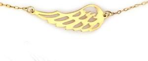 Lovrin Złoty naszyjnik 585 celebrytka skrzydło na łańcuszku