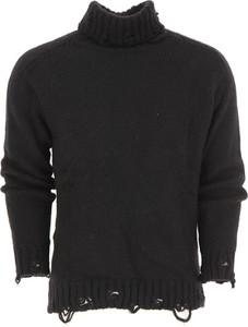 Czarny sweter Maison Flaneur w młodzieżowym stylu z bawełny