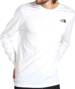 T-shirt The North Face w sportowym stylu z długim rękawem