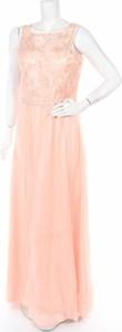 Różowa sukienka Miss Parisienne bez rękawów maxi