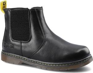 Czarne buty dziecięce zimowe Big Star na zamek