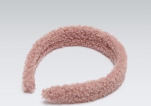 House - Pluszowa opaska do włosów - Różowy