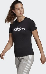 Bluzka Adidas z okrągłym dekoltem z krótkim rękawem z dresówki