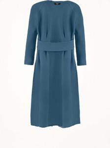 Niebieska sukienka Byinsomnia mini z dzianiny z okrągłym dekoltem