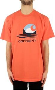 T-shirt Carhartt WIP z bawełny z krótkim rękawem w młodzieżowym stylu