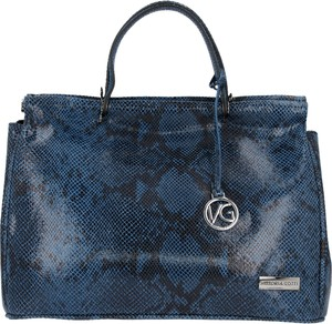 Niebieska torebka VITTORIA GOTTI ze skóry do ręki