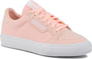 Różowe trampki dziecięce Adidas sznurowane