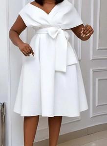 Sukienka Sandbella z krótkim rękawem z bawełny midi